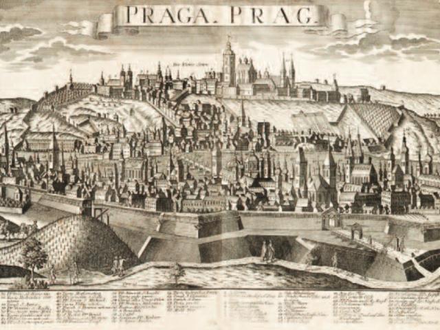 Grafické pohledy na Prahu v 18. Století, foto Muzeum hlavního města Prahy