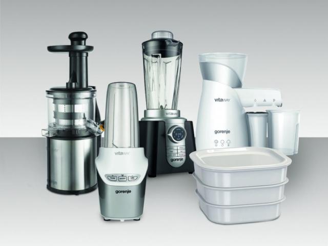 Kolekce domácích spotřebičů Gorenje Vitaway pro zdravý jídelníček. Foto Gorenje