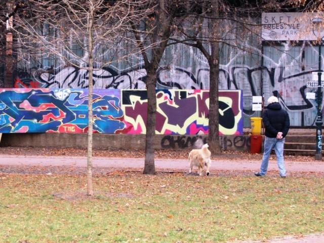 Strážníci za pomoci operátorky kamerového systému zadrželi sprejera. Ilustrační foto Praha Press