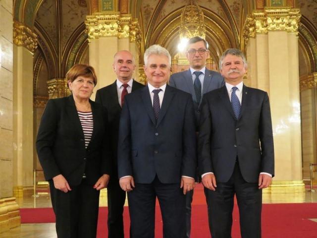 Senátní delegace s László Kövérem, foto Senát PČR
