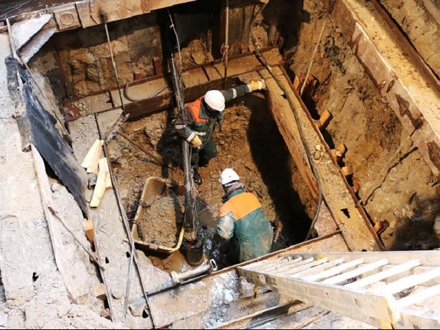 Vyhodnocení stavu podzákladí Libeňského mostu, foto TSK