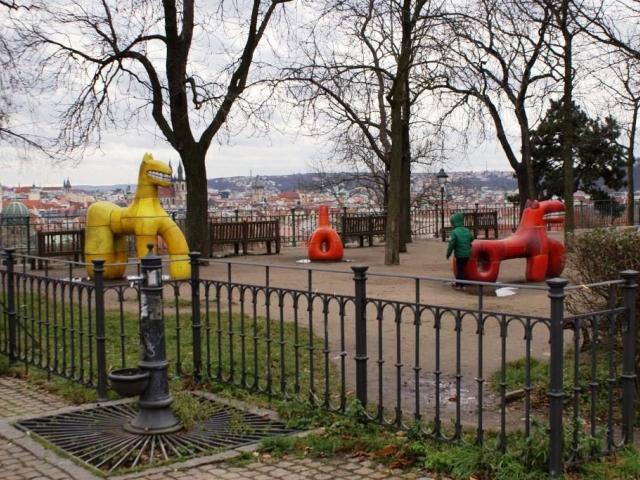 V obnovených Letenských sadech bude okruh pro rekreační bruslení, foto Praha Press