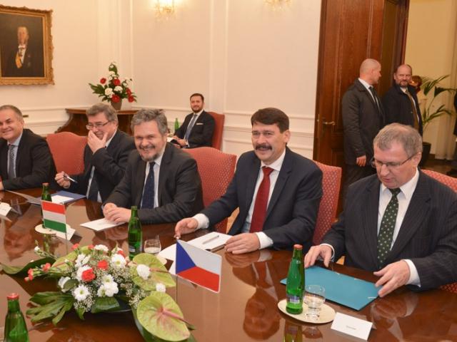 Uskutečnila se oficiální návštěva prezidenta Maďarska v České republice, foto: Parlament ČR.