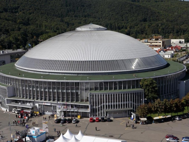 Pavilon Z: šedesátník s unikátní střechou, pod kterou se vejde veletrh i olympijský festival. Foto Veletrhy Brno, a.s.