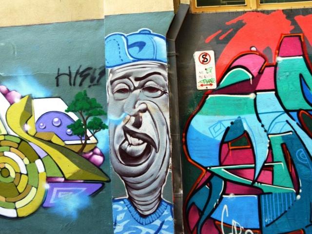 Probíhají přednášky Street art pro školy v Muzeu hlavního města Prahy, foto: Stanislava Nopová, z ulice v Melbourne 2018.