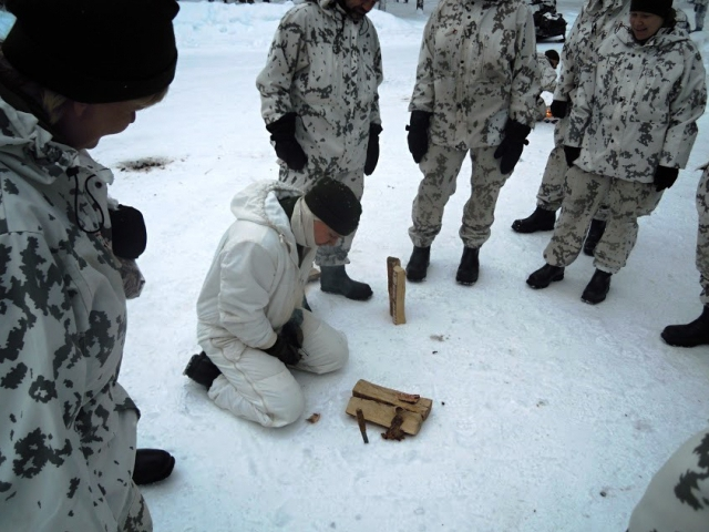 Pražský hasič absolvoval náročné cvičení v arktických podmínkách Finska, foto:  HZS Praha