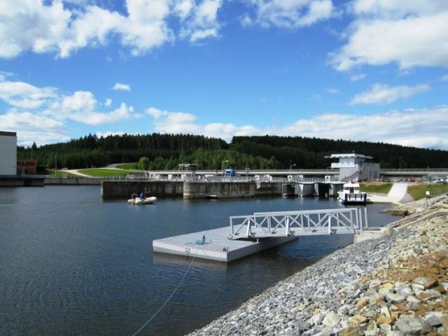 Plavební komora Hněvkovice je Vodohospodářskou stavbou roku 2017, foto: Ředitelství vodních cest České republiky