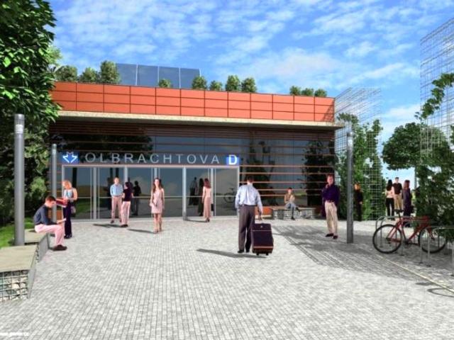Metro D se vrací do územního plánu, vizualizace: DPP