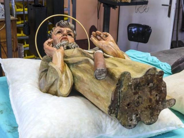 Jeden z apoštolů na orloji skrýval tajemství, foto: MHMP