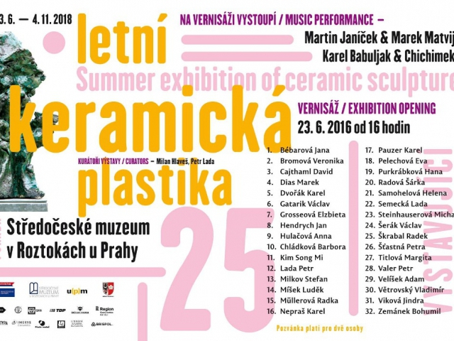 25. Letní keramická plastika na exteriérové výstavě v Roztokách u Prahy