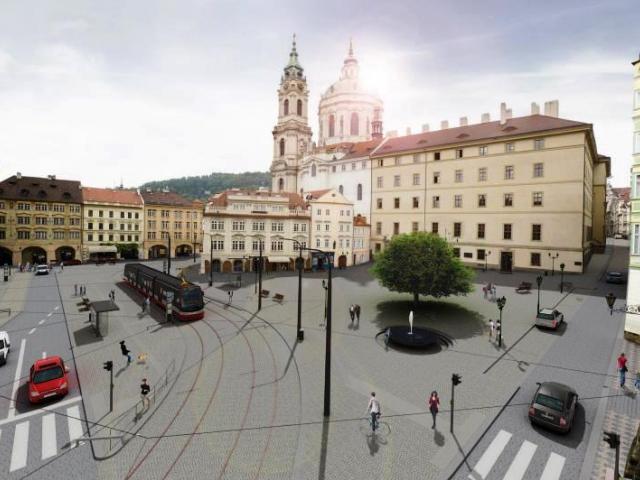 Venkovní výstava přiblíží minulost i budoucnost Malostranského náměstí, vizualizace foto: : MHMP