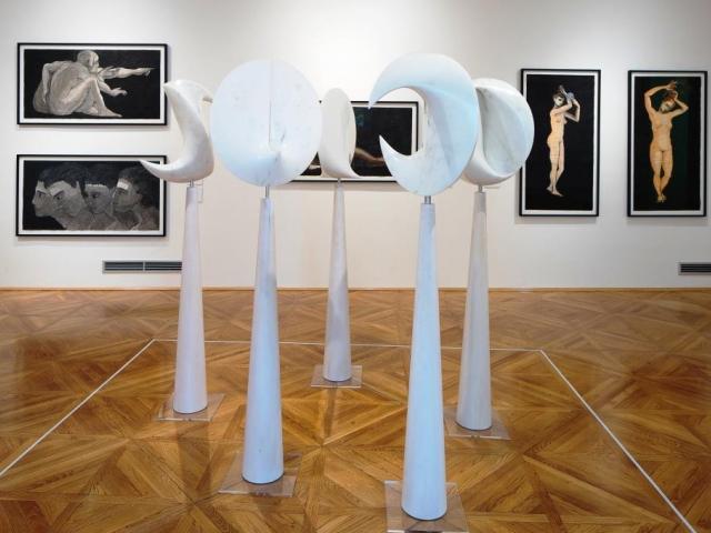 Výstava děl slavného umělce Santiaga Calatravy v Praze, foto: Galerie hlavního města Prahy