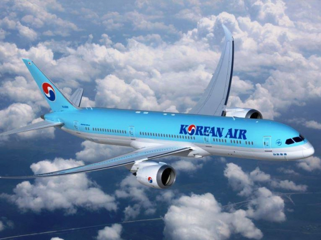 Korean Air nasadí od října Dreamliner na linku ze Soulu do Prahy, foto: Korean Air