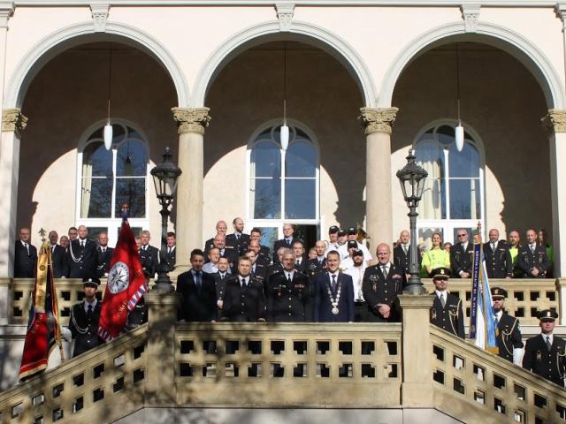 Praha 7 ocenila policisty, hasiče a městské strážníky, foto: HZS hl. m. Prahy