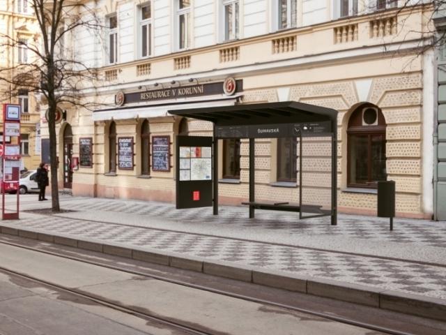 Praha má nový design zastávek MHD, foto: IPR Praha
