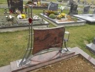 kovaný náhrobek