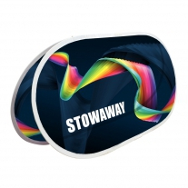 Stowaway - sestavený sklopný banner