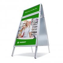 Reklamní A stojan - A0 s přídavným rámem - ostré rohy