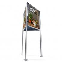 Triboard - Třístranný stojan s kliprámy