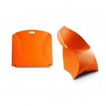Židle - skládací - oranžová