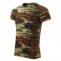 Tričko pánské kamufláž - camoufl age brown